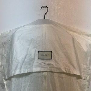 Gucci White Garment Bag x Black Velvet Hanger